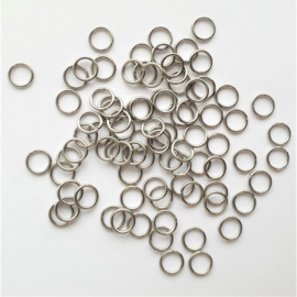 Buigringetjes stainless steel 10 stuks  - 6mm