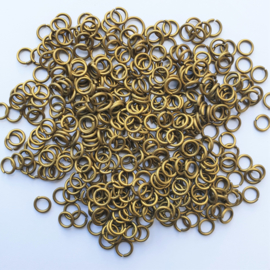Buigringetjes brons 10 stuks - 6mm