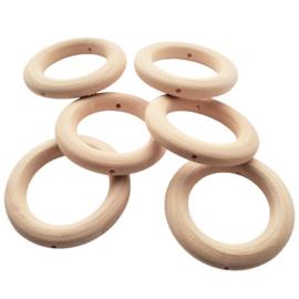 Houten ring met rijggat - ca. 45mm