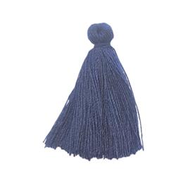 Kwastje donkerblauw - ca. 27mm