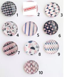 Cabochon geometrisch patroon naar keuze - 16mm