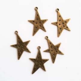 Bedel / hanger ster brons