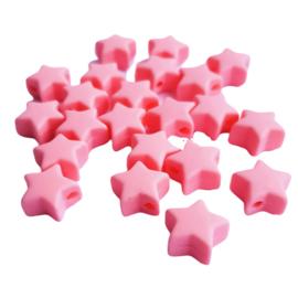 Siliconen sterretje roze - ca. 14mm