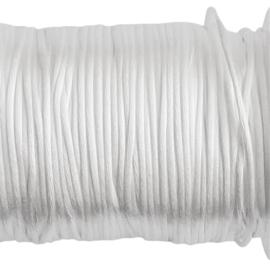 Satijnkoord wit - ca. 1mm