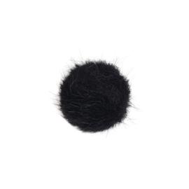 Cabochon bont zwart - 20mm