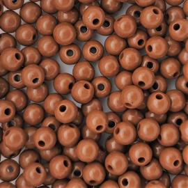 Acryl kraal bruin - ca. 6mm