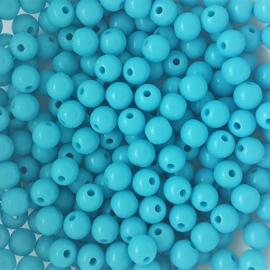 Acryl kraal helderblauw - ca. 6mm