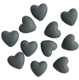 Siliconen hart donkergrijs