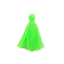 Kwastje neon groen - ca. 27mm