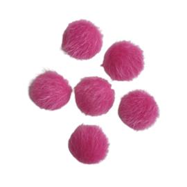 Cabochon bont roze
