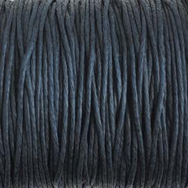 Waxdraad nachtblauw - 1mm