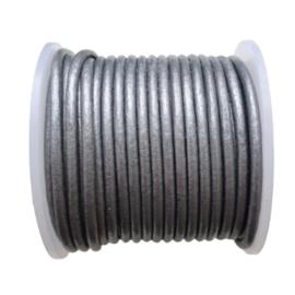Leer grijs metallic - 2mm