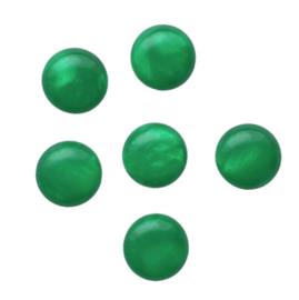 Polaris cabochon mosso shiny green - 12mm