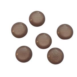 Polaris cabochon shiny brown - 12mm