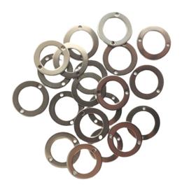 Tussenstuk stainless steel open cirkel