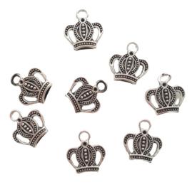 Bedel kroon antiek-zilver
