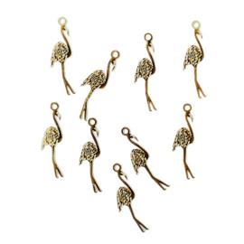 Hangertje flamingo goud