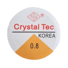 Elastisch transparant draad 0.8mm