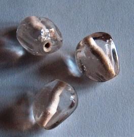 Bol 'blaadje' transparant 6x12mm