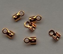 Veterklemmetje goudkleur - 6mm