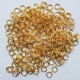 Buigringetjes goud 10 stuks - 8mm