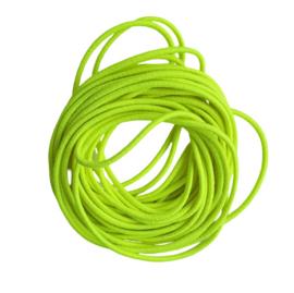 Elastiek fluor geel - 2mm
