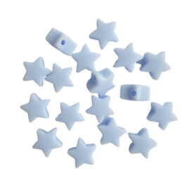 Siliconen sterretje pastelblauw - ca. 14mm
