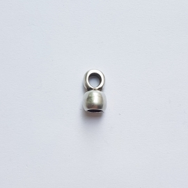 Metalen eindkapje antiek zilver - ca.3,5mm