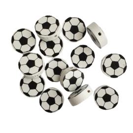 Houten kraal voetbal wit