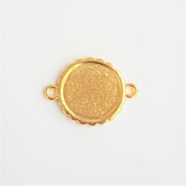 Setting / tussenstuk goud voor cabochon van 15mm