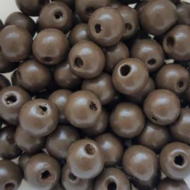 Houten kraal bruin - ca. 12mm