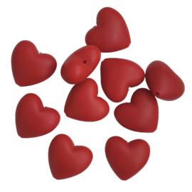 Siliconen hart warmrood