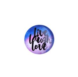 Cabochon Live Laugh Love - 16mm