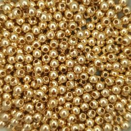 Metallook kraaltje goud - ca. 4mm