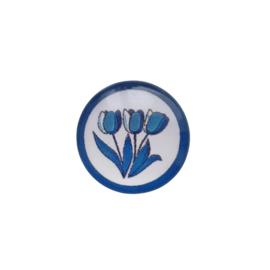 Glascabochon tulpen - 20mm