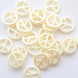 Acryl pearlshine peace kraal - ca. 17mm