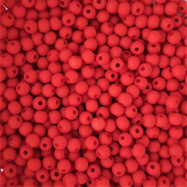 Acryl kraaltje mat vurig rood - ca. 4mm