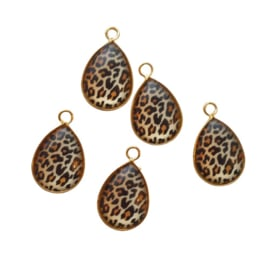 Hanger goud luipaard print