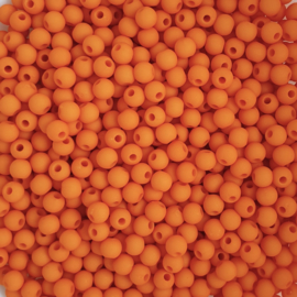 Acryl kraaltje mat oranje  - ca. 4mm