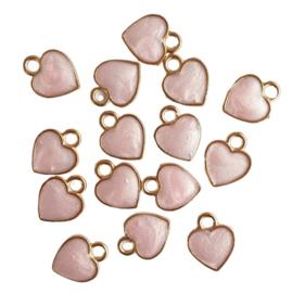 Bedel hartje roze parelmoer