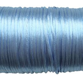 Satijnkoord lichtblauw - ca. 2mm