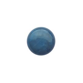 Polaris cabochon mosso shiny pauwblauw - 20mm