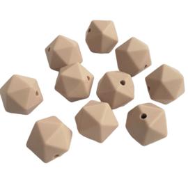 Siliconen kraal geometrisch zand - ca. 15mm