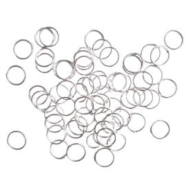 Buigringetjes zilver 50 stuks - 8mm