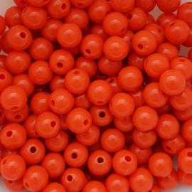 Acryl kraal warm oranje - ca. 8mm
