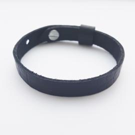 Leren armband bruinzwart