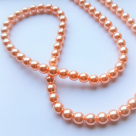 Glasparel pastel peach - 8mm