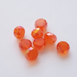 Facetkraal schijf oranje - 5x8mm