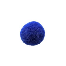 Pompom koningsblauw - ca. 18mm