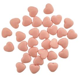 Acryl kraal hart zalmroze